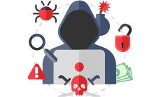 Cybercrime Ransomware Icons