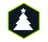 Holiday Tips Icon Christmas Tree Decorations